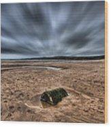 Freshwater West Blur Wood Print