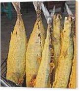 Fried Fish Wood Print