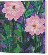Friendship In Flowers Wood Print