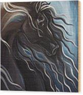 Friesian Storm Wood Print