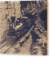 Frisco Steam Train Wood Print