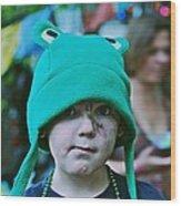 Frog Hat Wood Print