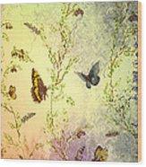 Frolicing Butterflies Wood Print