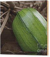 From Green To Orange Wood Print by Luke Moore