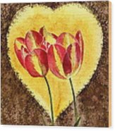 From Tulip With Love Wood Print