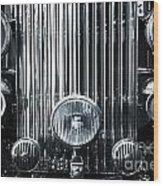 Front Grid Wood Print