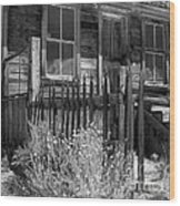 Front Porch Bodie Ghost Town California Wood Print