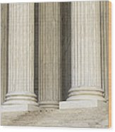 Front Steps And Columns Of The Supreme Court Wood Print
