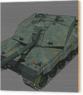 Front View Of A British Challenger II Wood Print
