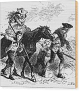 Frontier Family, 1755 Wood Print