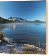 Frost On The Shore Wood Print