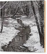 Frosted Stream Wood Print