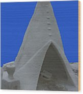 Frosted Tee Pee Wood Print