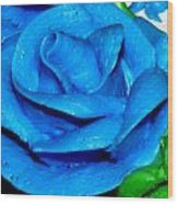 Frosting Rose Wood Print