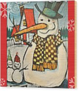 Frosty Family Poster Wood Print