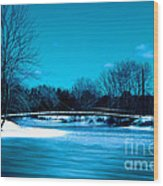 Frozen Bridge Wood Print
