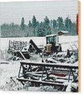 Frozen Field Wood Print
