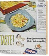 Frozen Food Ad, 1947 Wood Print