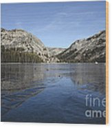 Frozen Tenaya Lake Wood Print