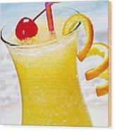 Frozen Tropical Orange Drink Wood Print