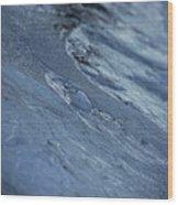 Frozen Wave Wood Print