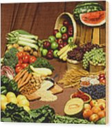 Fruit And Grain Food Group Wood Print