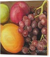 Fruit Aplenty Wood Print by Anne Ferguson