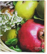 Fruit Basket Wood Print