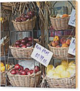 Fruit For Sale Wood Print