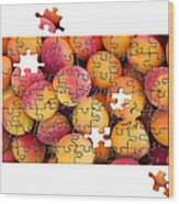 Fruit Jigsaw1 Wood Print by Jane Rix