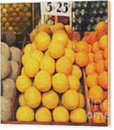 Fruit Market - Painterly - 7d17401 Wood Print by Wingsdomain Art and Photography