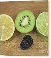 Fruit Mix Wood Print