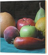 Fruit On The Porch Wood Print