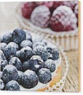 Fruit Tarts Wood Print