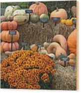 Fruits Of Fall Wood Print