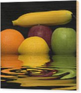 Fruity Reflections Wood Print