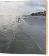 Ft Myers Beach Wood Print