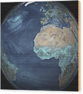 Full Earth Showing Evaporation Wood Print