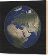 Full Earth View Showing Africa, Europe Wood Print