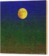 Full Moon Wood Print by Dale   Ford