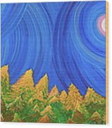 Full Moon Forest By Jrr Wood Print