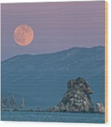 Full Moon Over Cape Laplace. Wood Print by V. Serebryanskiy