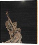 Full Moon Prayer Wood Print