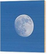 Full Moon. Sky Photographed Wood Print