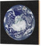 Fully Lit Full Disk Image Centered Wood Print by Stocktrek Images