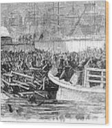 Fulton Ferry Boat, 1868 Wood Print