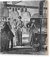 Fulton Fish Market, 1870 Wood Print