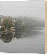 Fumel On A Misty Day Wood Print by Georgia Fowler