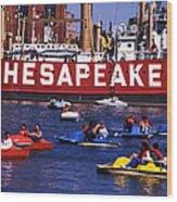Fun On Chesapeake Bay Wood Print
