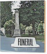 Funeral Wood Print